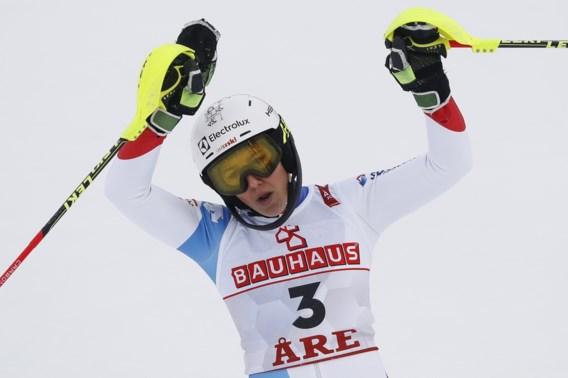 Wendy Holdener leidt na eerste run van slalom in het Zweedse Are, Vanreusel blijft Decroix voor