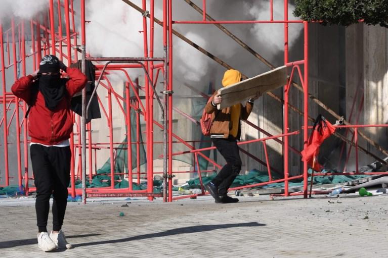 Rellen bij betoging tegen regering in Albanië