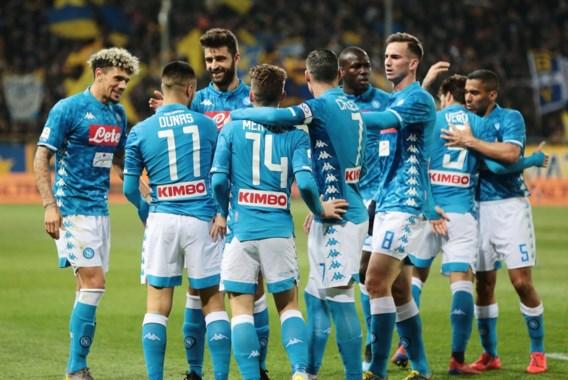 Napoli en Dries Mertens kennen weinig moeite met Parma, Juventus wint met kleinste verschil bij Bologna