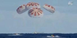 Autonome capsule SpaceX landt succesvol in Atlantische Oceaan