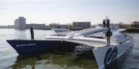 Waterstofschip meert aan in Antwerpen
