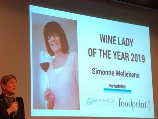 Onze wijnvrouw Simonne Wellekens is verkozen tot 'wine lady of the year'