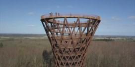 Ecologisch gebouwde zandloper-toren geopend in Denemarken