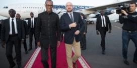 Charles Michel aangekomen in Rwanda voor officieel bezoek