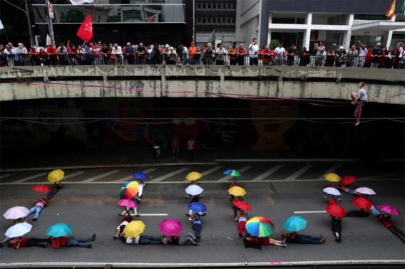 Duizenden Brazilianen betogen voor gevangenis voor vrijlating oud-president Lula