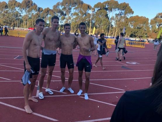 Vier broers Borlée sluiten hun eerste collectieve 4x400m al winnend af