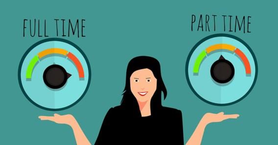 Ruim kwart werkt deeltijds