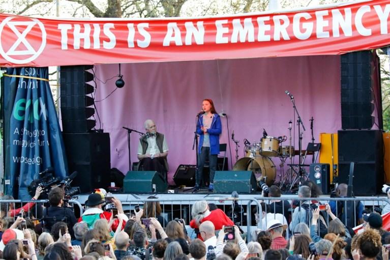 Greta Thunberg in Londen: 'Politici die niets doen gaan er niet mee wegkomen'