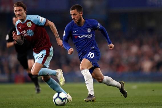 Chelsea kan ondanks assist Hazard niet winnen van Burnley