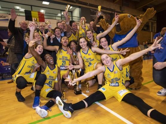 Castors Braine voor de zesde keer op rij kampioen in het vrouwenbasketbal