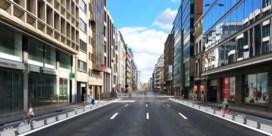 Brusselse Belliardstraat verliest rijstrook in ruil voor fietspad
