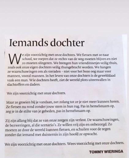 Hoe Vlaanderen omgaat met de dood van Julie Van Espen