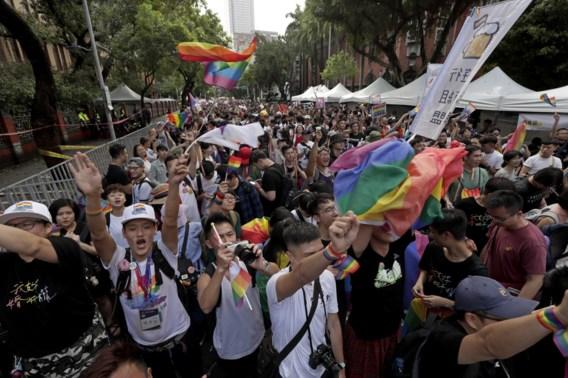 Taiwan legaliseert als eerste Aziatische land het homohuwelijk