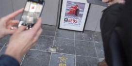 Eresteen van dEUS siert voetpad aan Ancienne Belgique