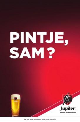 'Pintje, Sam?': opvallende advertentie Jupiler pikt in op transitie Sam Bettens