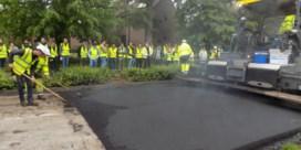Voor het eerst in Vlaanderen wegdek uit gerecycleerd asfalt