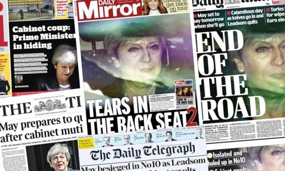 Britse kranten nemen al afscheid van Theresa May