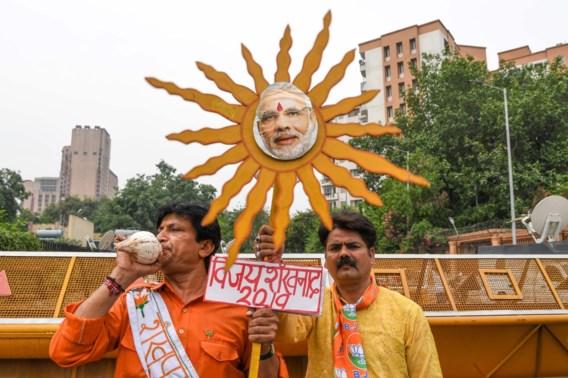 Premier Modi op weg naar verkiezingswinst in India
