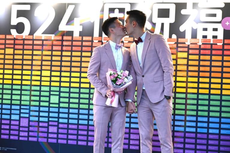 Taiwan voltrekt eerste homohuwelijken in Azië