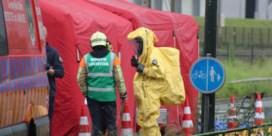 Ammoniaklek bij vleesbedrijf in Huizingen