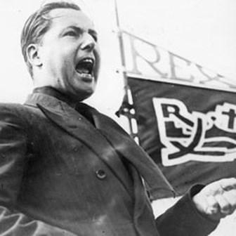 De verkiezingsuitslag van 2019 lijkt erg goed op die van 1936, stelt Guy Vanthemsche vast. De extreemrechtse partij Rex van Leon Degrelle (foto) haalde toen vanuit het niets 21 zetels.
