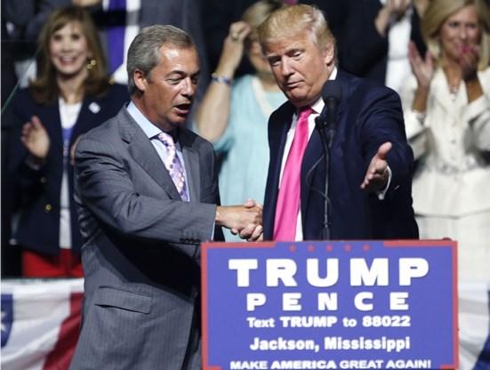 Trump: 'Laat Farage onderhandelen over Brexitdeal'