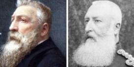 Portret Leopold II ontmaskerd als Rodin