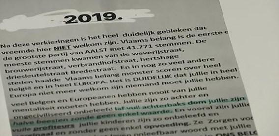 Aalst: Ontvangers van racistische brief verwijten politie nalatigheid