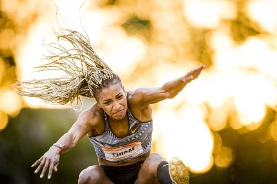 Nafi Thiam wint in Leiden zowel verspringen als 100 meter horden en is klaar voor zevenkamp van Talence