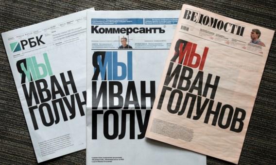 Opmerkelijk protest van Russische kranten tegen opsluiting journalist