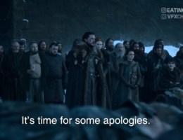 Vlaming gaat viraal met excuses van Jon Snow
