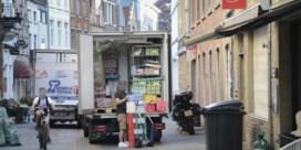 Vrachtwagens zijn baas in Brugse voetgangerszone