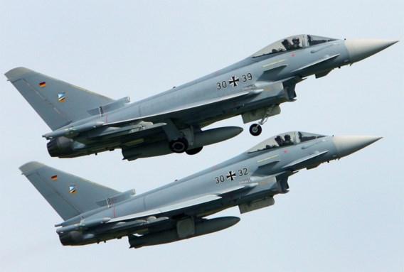 Duitse Eurofighters botsen in de lucht, één piloot omgekomen