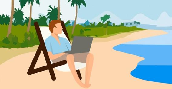Bijna helft Vlamingen neemt werk mee op vakantie