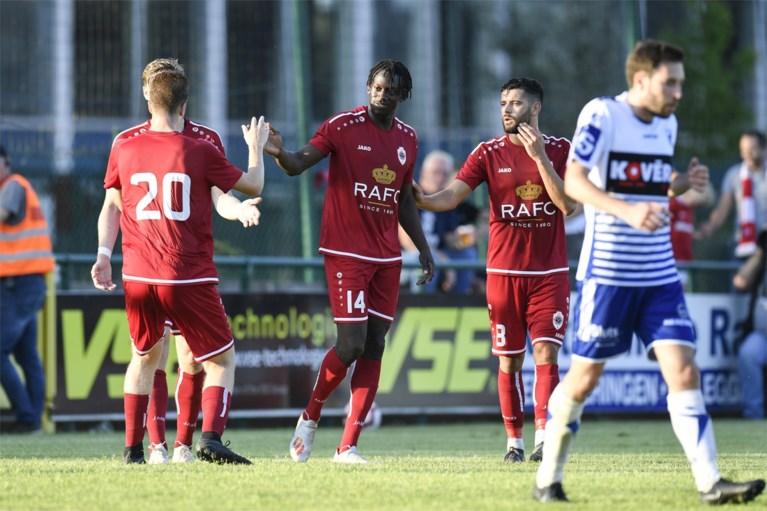 OEFENWEDSTRIJDEN. Standard start voorbereiding met 0-5 zege, 17-jarige scoort twee keer voor Antwerp