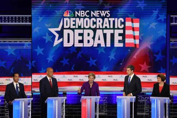 Elizabeth Warren bevestigt in eerste debat onder Democraten