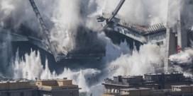 'Muur van water' bij ontploffing brug in Genua