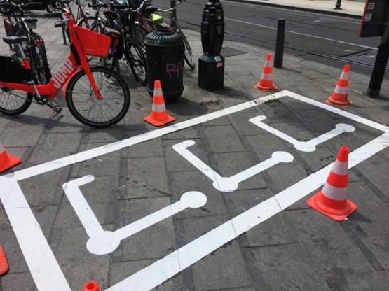 Brussel heeft eerste parking speciaal voor steps