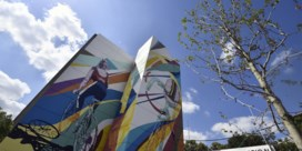 Brusselse muurschildering Eddy Merckx ingehuldigd
