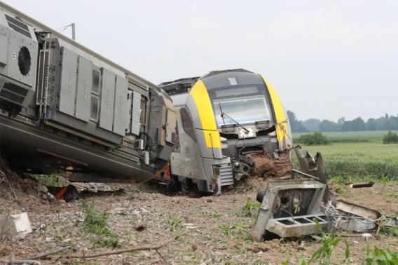 Passagierstrein die ontspoorde in Neufvilles reed driemaal te snel