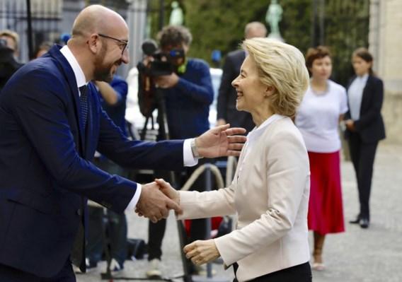 Charles Michel en Ursula von der Leyen bespreken toekomst EU