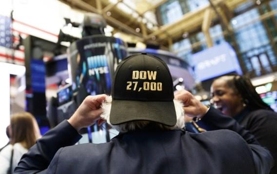 Dow-Jones sluit voor het eerst boven grens van 27.000 punten
