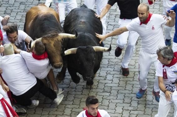 Man gespietst bij stierenrennen Pamplona