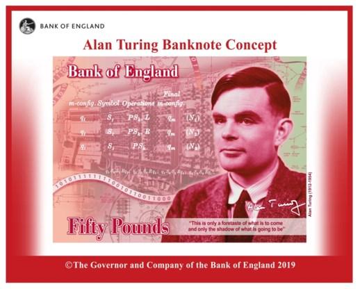 Computerpionier Alan Turing wordt gezicht Brits bankbiljet
