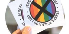 Stickers en stenen tegen LGBT-rechten