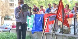 Personeel Berchemse Axa Bank voert actie tegen mogelijke verkoop