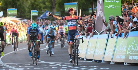Italiaan Canola sprint naar de zege in Ronde van Utah, Ben Hermans gaat als leider slotweekend in
