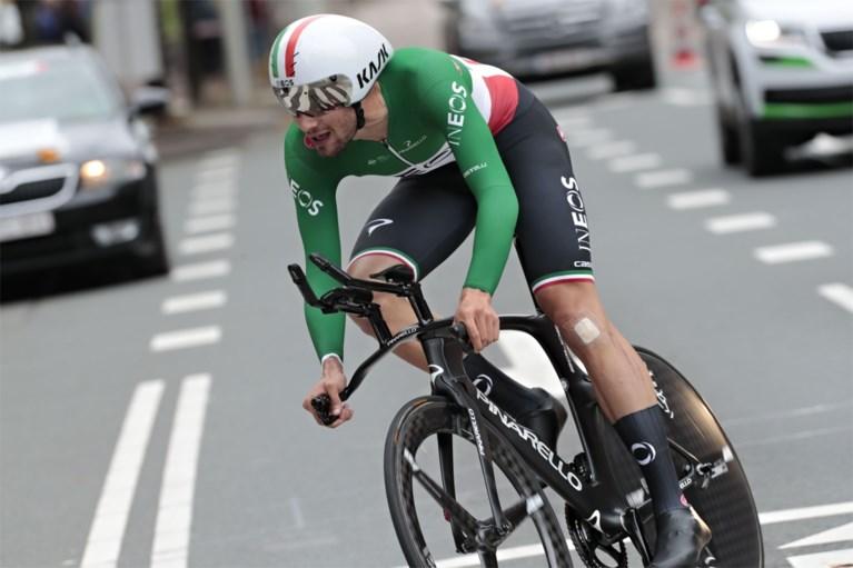 Italiaans kampioen Filippo Ganna wint korte tijdrit in Den Haag, Tim Wellens gaat als leider slotetappe BinckBank Tour in