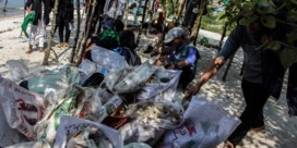 Indonesiërs gaan strijd aan met plastic afval op stranden