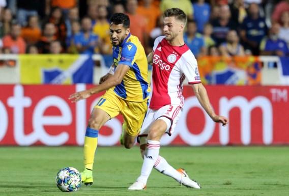 Ajax blijft steken op doelpuntenloos gelijkspel bij APOEL in heenmatch laatste voorronde Champions League